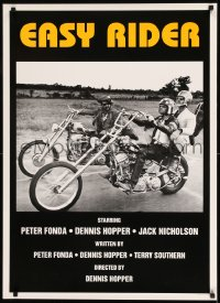 7m005 EASY RIDER 25x35 English commercial poster 1990s Fonda, Nicholson & Hopper on motorcycles!