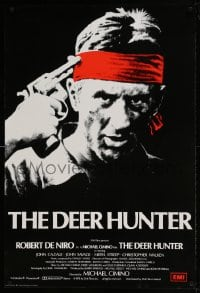 7m001 DEER HUNTER English 1sh 1979 directed by Michael Cimino, Robert De Niro, Russian Roulette!