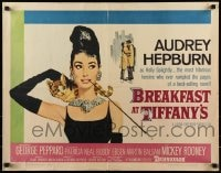 7m201 BREAKFAST AT TIFFANY'S 1/2sh 1961 most classic artwork of sexy elegant Audrey Hepburn!
