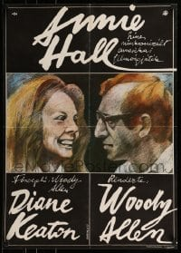 7m294 ANNIE HALL Hungarian 23x32 1980 art of Woody Allen & Diane Keaton by Gyarfas Gabor, rare!