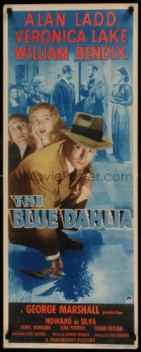 7m190 BLUE DAHLIA insert 1946 Alan Ladd, sexy Veronica Lake, William Bendix, different & rare!