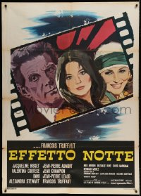 7m172 DAY FOR NIGHT Italian 1p 1973 Francois Truffaut La Nuit Americaine, art of Bisset & co-stars