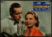 7m282 CASABLANCA Italian 19x26 pbusta R1962 best close up of Humphrey Bogart & Ingrid Bergman!
