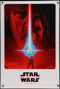 7m231 LAST JEDI DS teaser 1sh 2017 Star Wars, Hamill, Driver & Ridley, first time in our auctions!