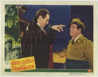 7m038 ABBOTT & COSTELLO MEET FRANKENSTEIN LC #6 1948 c/u of Bela Lugosi as Dracula hypnotizing Lou