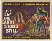7m043 DAY THE EARTH STOOD STILL TC 1951 classic art of Gort holding Patricia Neal, Michael Rennie!
