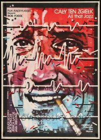 7m307 ALL THAT JAZZ Polish 26x37 1982 Leszek & Jadwiga Drzewinscy art of smoking Roy Scheider!