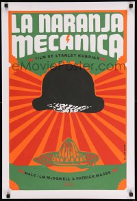 7m247 CLOCKWORK ORANGE 20x30 Cuban REPRO poster 2010s Stanley Kubrick classic, different Ponce art