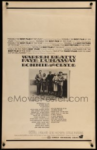 7m175 BONNIE & CLYDE WC 1967 Beatty, Dunaway, Hackman, Parsons & Pollard rob banks, ultra rare!