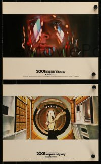 7m011 2001: A SPACE ODYSSEY group of 5 color English FOH LCs 1968 Dullea & Lockwood in Cinerama!
