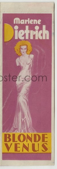 7m014 BLONDE VENUS herald 1932 incredible full-length image of Marlene Dietrich as Venus De Milo!