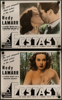 7m037 ECSTASY set of 8 photolobbies R1940s Hedy Lamarr's early nudie the world is whispering about!