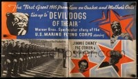 7m166 DEVIL DOGS OF THE AIR promo brochure 1935 James Jimmie Cagney, cool Quaker Oats tie-in!