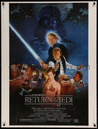 7p021 RETURN OF THE JEDI style B 30x40 1983 George Lucas classic, Hamill, Harrison Ford, Sano art!