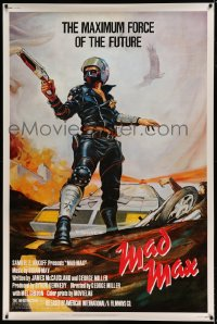 7p008 MAD MAX 40x60 1980 George Miller post-apocalyptic classic, Bill Garland art of Mel Gibson!