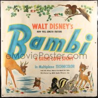 7p002 BAMBI style A 6sh 1942 Walt Disney cartoon classic, art with Thumper & Flower, ultra rare!