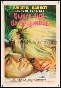 7p240 TWO WEEKS IN SEPTEMBER linen Argentinean 1967 best different art of sexy Brigitte Bardot
