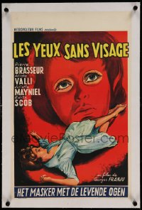 7p212 EYES WITHOUT A FACE linen Belgian 1962 Georges Franju's Les Yeux Sans Visage, great art!