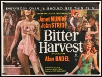 7p039 BITTER HARVEST British quad 1963 art of sexy party girl Janet Munro, rare country of origin!