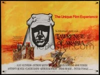 7p044 LAWRENCE OF ARABIA British quad R1970 David Lean, Peter O'Toole, Winner of 7 Academy Awards!