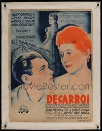 7p262 DISTRESS linen French 24x32 1947 Sardou's play Odette set in New York, Boris Grinsson art!