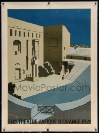 7p069 ROMAN THEATRE OF ORANGE linen French 31x43 1920 H.D. Naurac art of outdoor theater!