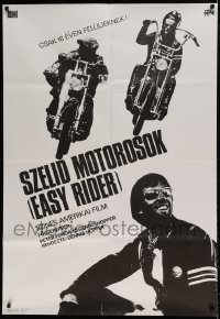 7p034 EASY RIDER Hungarian 32x47 1972 Peter Fonda, Jack Nicholson, different motorcycle image, rare!