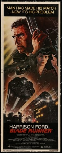 7p117 BLADE RUNNER linen insert 1982 Ridley Scott classic, art of Harrison Ford by John Alvin!