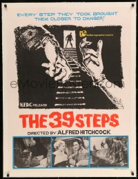 7p182 39 STEPS linen Indian R1960s Hitchcock, Donat, Madeleine Carroll, different handcuffs art!