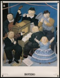 7p016 BOTERO 39x51 Italian museum art exhibition 1991 great artwork, Fernando Botero's I Musicsti