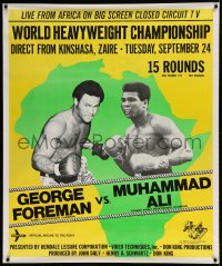 7p006 GEORGE FOREMAN VS. MUHAMMAD ALI 39x47 special poster 1974 Heavyweight Boxing Championship!