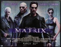 7p003 MATRIX subway poster 1999 Keanu Reeves, Carrie-Anne Moss, Laurence Fishburne, Wachowskis!