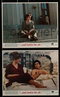 7s028 AND JUSTICE FOR ALL 8 8x10 mini LCs 1979 directed by Norman Jewison, Al Pacino is out of order