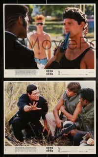 7s034 BAND OF THE HAND 8 8x10 mini LCs 1986 Paul Michael Glaser, delinquents clean Miami!