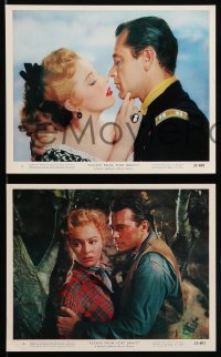 7s008 ESCAPE FROM FORT BRAVO 11 color 8x10 stills 1953 cowboy William Holden, Eleanor Parker!
