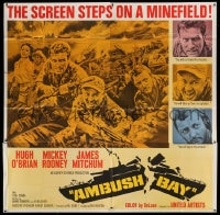 7t012 AMBUSH BAY 6sh 1966 great images of Hugh O'Brian, Mickey Rooney & James Mitchum in WWII!