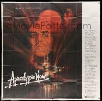 7t013 APOCALYPSE NOW int'l 6sh 1979 Francis Ford Coppola, classic Bob Peak art of Brando and Sheen!