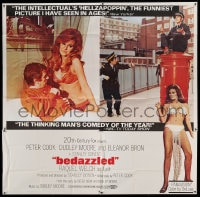 7t016 BEDAZZLED 6sh 1968 different montage of Dudley Moore & Raquel Welch as Lust, ultra rare!