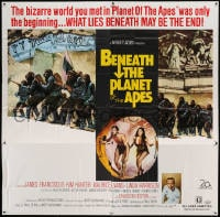 7t017 BENEATH THE PLANET OF THE APES 6sh 1970 sequel, what lies beneath may be the end!