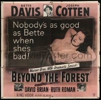 7t019 BEYOND THE FOREST 6sh 1949 King Vidor, nobody's as good as Bette Davis when she's bad!