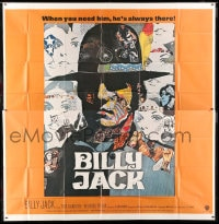 7t020 BILLY JACK int'l 6sh 1971 best completely different art of Tom Laughlin by Ermanno Iaia!