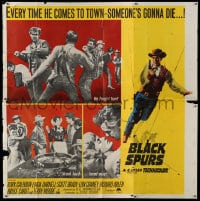 7t022 BLACK SPURS 6sh 1965 every time Rory Calhoun comes to town, someone's gonna die!