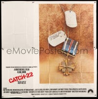 7t027 CATCH 22 int'l 6sh 1970 directed by Mike Nichols, based on the novel by Joseph Heller!