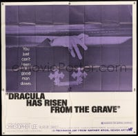 7t037 DRACULA HAS RISEN FROM THE GRAVE 6sh 1969 Hammer, completey different vampire coffin image!