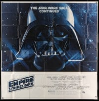 7t039 EMPIRE STRIKES BACK 6sh 1980 George Lucas sci-fi classic, giant Darth Vader head in space!