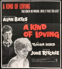 7t008 KIND OF LOVING English 6sh 1962 Schlesinger, their love knew no wrong until it was too late!