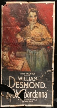 7w004 BLUE BANDANNA 3sh 1919 full-length art of William Desmond preparing dinner, rare!