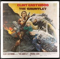 7w002 GAUNTLET 6sh 1977 great art of Clint Eastwood & Sondra Locke by Frank Frazetta!