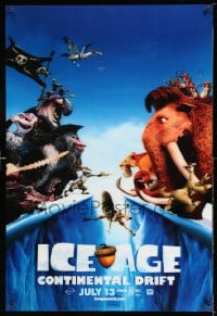 7w016 ICE AGE: CONTINENTAL DRIFT lenticular 1sh 2012 Denis Leary, Lequizamo, cute image of face-off!