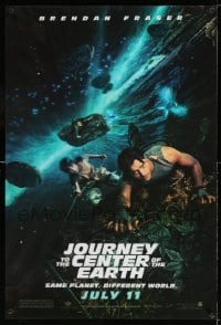 7w018 JOURNEY TO THE CENTER OF THE EARTH lenticular teaser 1sh 2008 Brendan Fraser, sci-fi fantasy!